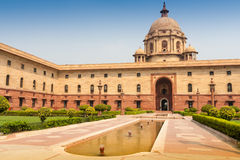 Ministries near Rashtrapati Bhavan, the official home of the Pr. Esident of India, located at the Western end of Rajpath in New Delhi, India stock photos