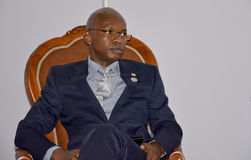 Ministro de asuntos exteriores de Burundi, Alain Aimé Nyamitwe Fotografía de archivo