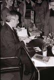 MINISTRO DE ASUNTOS EXTERIORES DEL ` S DE DINAMARCA UFFE 1982-1993 ELLEMANN JENSEN Imágenes de archivo libres de regalías