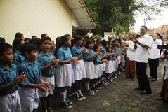 MINISTRO DE INDONESIA DE LA EDUCACIÓN ANIES BASWEDAN Foto de archivo libre de regalías