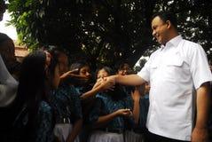 MINISTRO DE INDONESIA DE LA EDUCACIÓN ANIES BASWEDAN Imágenes de archivo libres de regalías