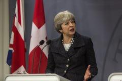 Ministro de Theresa May Visits Danish Prime en Copepenhagen foto de archivo libre de regalías