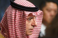 Ministro degli affari esteri dell'Arabia Saudita Adel al-Jubeir immagini stock