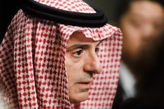 Ministro degli affari esteri dell'Arabia Saudita Adel al-Jubeir immagini stock libere da diritti
