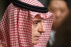 Ministro degli affari esteri dell'Arabia Saudita Adel al-Jubeir immagine stock