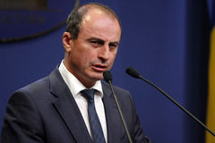 Ministro dell'agricoltura rumeno e sviluppo rurale Achim Irimescu Fotografie Stock Libere da Diritti