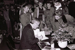 MINISTRO DOS NEGÓCIOS ESTRANGEIROS DO ` S DE DINAMARCA UFFE 1982-1993 ELLEMANN JENSEN Imagem de Stock