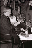 MINISTRO DOS NEGÓCIOS ESTRANGEIROS DO ` S DE DINAMARCA UFFE 1982-1993 ELLEMANN JENSEN Imagens de Stock Royalty Free