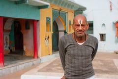 Ministro indiano do templo hindu fotos de stock royalty free