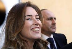 MINISTRO MARIA ELENA BOSCHI Fotografia Stock Libera da Diritti