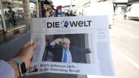 Ministro novo de Boris Johnson primeiro do Reino Unido Die Welt video estoque