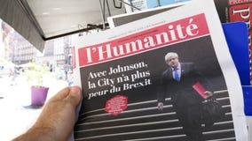 Ministro novo de Boris Johnson primeiro do Reino Unido video estoque