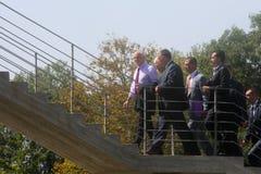 Ministro Primo greco George Papandreou Immagine Stock