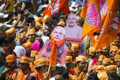 Ministro principale del Gujarat e candidato ministeriale principale Narendra Modi di BJP Immagini Stock Libere da Diritti