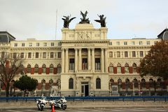 The Ministry of Agriculture in Madrid, Spain Royalty Free Stock Images