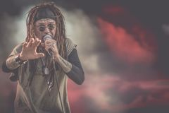 Ministry, Al Jourgensen live concert Hellfest 2017 industrial metal royalty free stock photography
