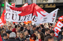 Ministry of culture strike in Paris Stock Photography