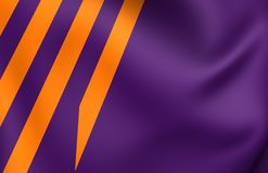 Ministry of Defence Netherlands Flag. Close Up Royalty Free Stock Images