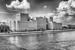 Ministry of defense building on Frunzenskaya embankment, Moscow, Stock Photos