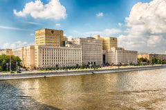 Ministry of defense building on Frunzenskaya embankment, Moscow, Stock Image