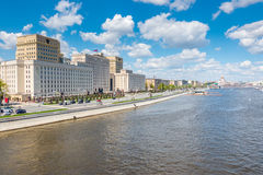 Ministry of Defense of the Russian Federation on Frunze Embankment in Moscow Royalty Free Stock Images