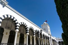 Ministry of Finance Building in Tunis, Tunisia royalty free stock photography