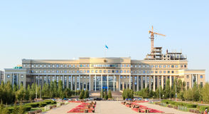 MINISTRY OF FOREIGN AFFAIRS REPUBLIC OF KAZAKHSTAN. Astana, Kazakhstan. Astana, Kazakhstan - Augusts 18, 2014: is the central executive authority in the royalty free stock photography