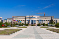 Ministry of Foreign Affairs Republic of Kazakhstan. ASTANA, KAZAKHSTAN - MAY 10, 2014: Ministry of Foreign Affairs Republic of Kazakhstan. Astana is the capital Stock Image