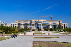 Ministry of Foreign Affairs Republic of Kazakhstan. ASTANA, KAZAKHSTAN - MAY 10, 2014: Ministry of Foreign Affairs Republic of Kazakhstan. Astana is the capital royalty free stock photos
