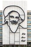 Ministry of Informatics and Communications. With the image of Camilo Cienfuegos adorning the side of the building. Jose Marti Plaza de la Revolucion. Havana Stock Images
