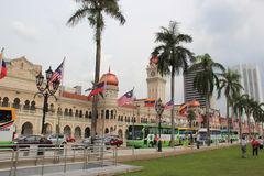 Ministry of Information, Communication and Culture in Malaysia. Kuala Lumpur, Malaysia - April 5, 2013: The Sultan Abdul Samad Building, located in front of Stock Photos