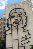 Ministry of the Interior building with face of Che Guevara located in Revolution Square, Cuba Stock Images