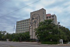 Ministry of Interior building in La Havana. Ministry of interior building with an iconic steel outline of Ernesto Che Guevara. Situated at the Revolution Square Royalty Free Stock Image