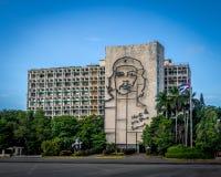 Ministry of the Interior in the Plaza de la Revolucion - Havana, Cuba. Ministry of the Interior in the Plaza de la Revolucion in Havana, Cuba Stock Photography