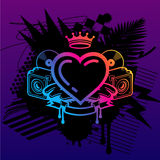 Ministry Of Rave. Coat Of Arms With Heart Royalty Free Stock Image