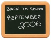 Minitafel des Kindes - zurück zu Schule 2006. Stockfotografie