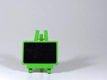 Minitafel lokalisiert auf Schwarzem Lizenzfreie Stockbilder