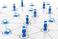 minitoy τεχνολογία δικτύων Στοκ Εικόνα
