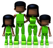 MiniToy Black Family Stock Photography