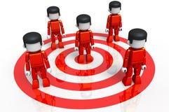 minitoy rött mål för grupp Arkivfoto