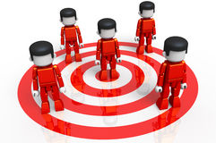 MiniToy Red Target Group Stock Photo