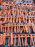 Miniture av den Toriis porten, Fushimi Inari relikskrin, Kyoto Japan Arkivfoton
