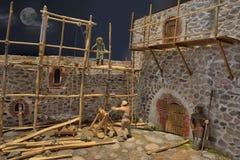 Miniture building castle Stock Images