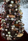 Miniture Christmas Tree Decorated Up Close Royalty Free Stock Photos