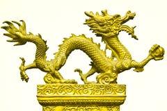 Miniture del dargon dell'oro Immagini Stock