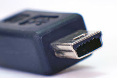 MiniUSB. Connector wmacro shot with high magnification stock photography