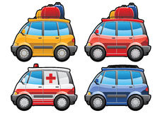 Minivan, ambulance car Stock Photo