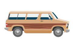 Minivan car vector van auto vehicle family minibus vehicle and automobile banner isolated citycar on white background. Illustration Stock Photos