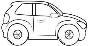 Minivan coloring page Stock Photo