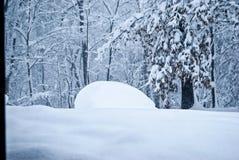 Minivan in Deep Snow Royalty Free Stock Photo